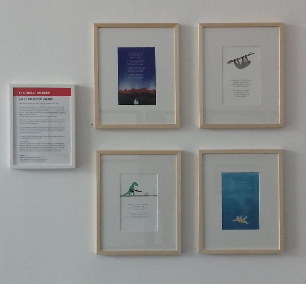Kinderzimmerbild Poesie im Glaspalast Augsburg Ausstellung Linoldrucke