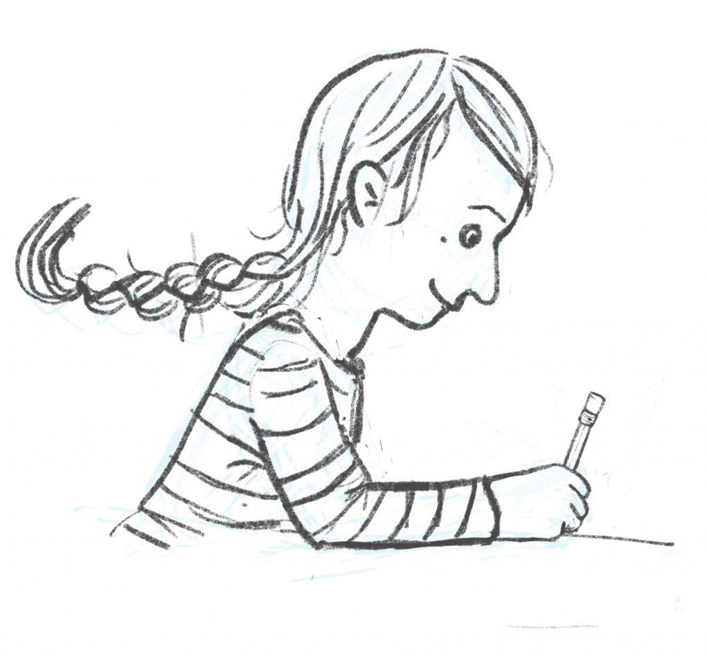 Franziska Scherrers Illustratorin Bleistift Procreate schnelles Porträt