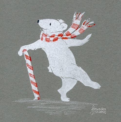 Da steppt der Eisbär – Linoldruck