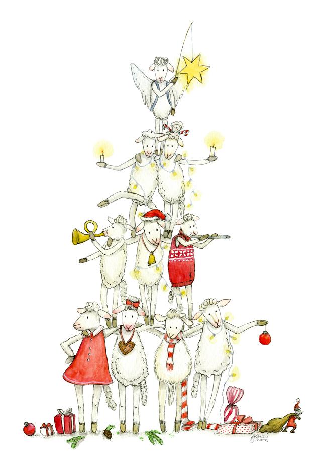 Weihnachtskarten aus Schafhausen