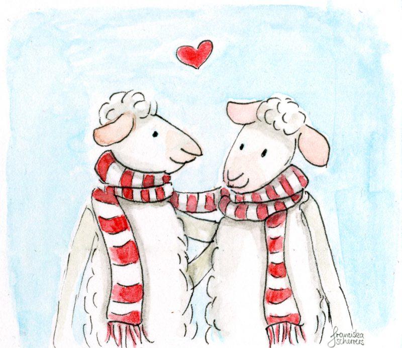 Wollig warmer Valentinstag