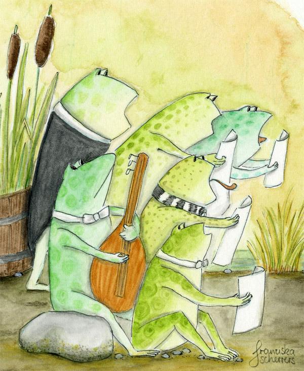 Die kleine Hexe Pastinake und der Froschgesang